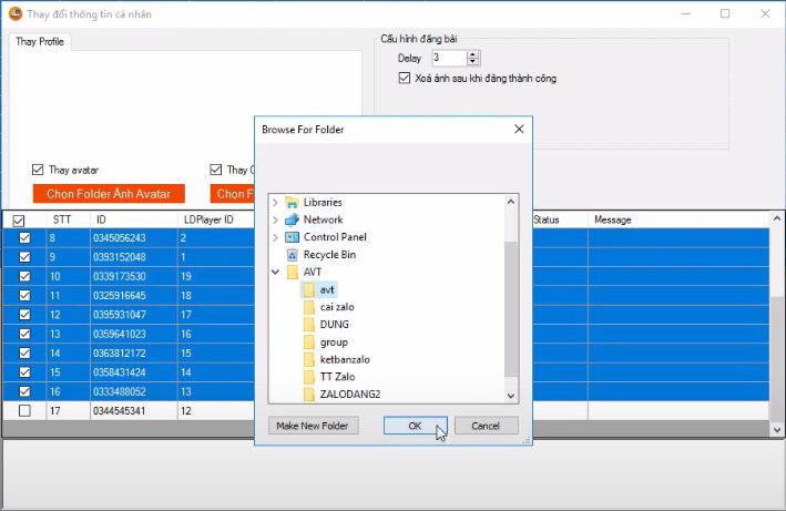 phần mềm nuôi nick Zalo tự động đăng bài, tương tác tự động